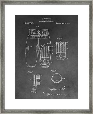 Football Trousers Patent Framed Print