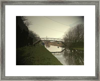 Footbridge Over The Trent And Mersey, The Spanking New Framed Print by Litz Collection