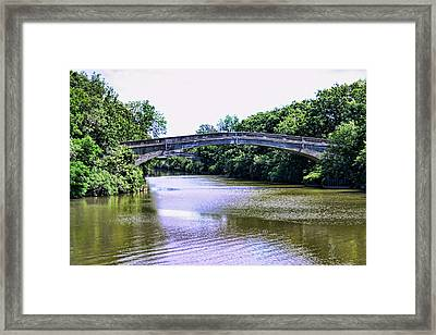 Footbridges On The Genesee Framed Print
