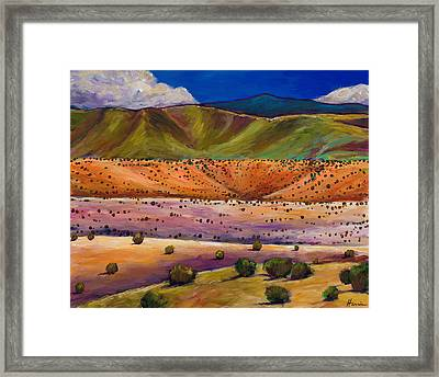 Foothill Approach Framed Print by Johnathan Harris