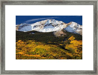 Foothills Of Gold Framed Print by Darren  White