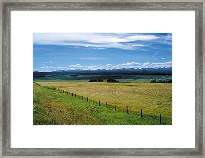 Foothills Of The Rockies Framed Print
