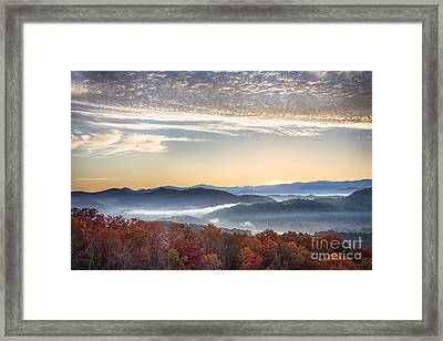 Foothills Parkway Fall Morning Framed Print