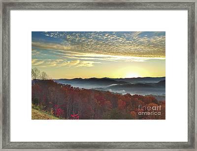 Foothills Parkway Sunrise Framed Print