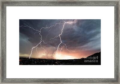 Framed Print featuring the photograph Foothills Strike by Brian Spencer