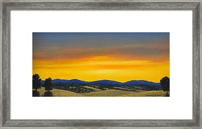 Foothills Sunrise Framed Print