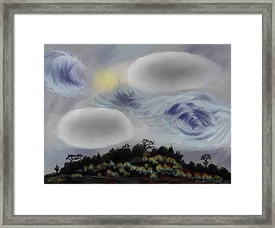 Foothills Sunrise On My Morning Walk Framed Print