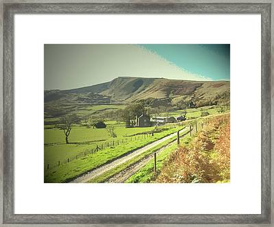 Footpath And Track At Woodseats, Farm Dwelling Framed Print