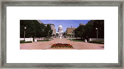 Footpath Leading Toward A Government Framed Print by Panoramic Images