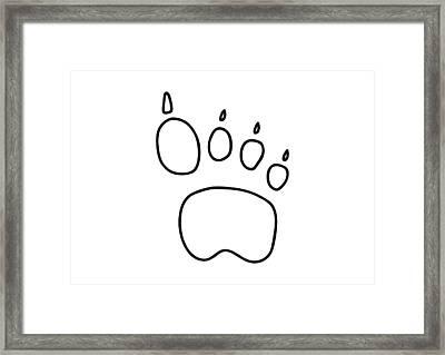 Footprint Bear Wulf Tiger Framed Print by Lineamentum