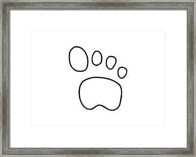 Footprint Dog Cat Animal Framed Print by Lineamentum
