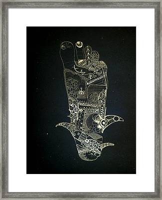 Footprint Framed Print by Guillermo De Llera