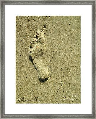 Footprint Framed Print by Lorraine Heath