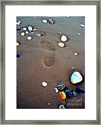 Footprint Framed Print by Nina Ficur Feenan