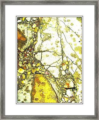 Footprint Of The Golden Time Framed Print