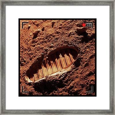 Footprint On Mars Framed Print by Detlev Van Ravenswaay