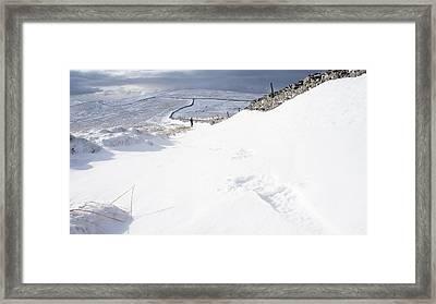 Footprint Framed Print by Riley Handforth