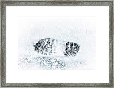 Footprint Framed Print by Tom Gowanlock