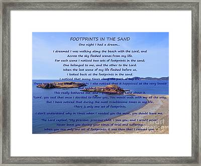 Footprints In The Sand 2 Framed Print