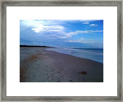 Footprints In The Sand Framed Print by Julie Wilcox