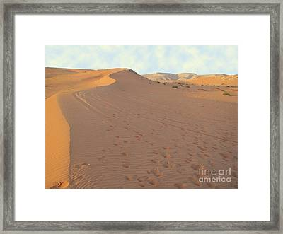 Footprints In The Sand Framed Print by Michael Waters
