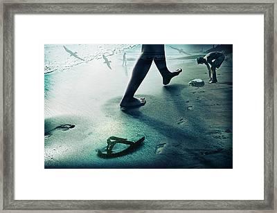 Footprints Framed Print by James David Phenicie