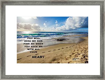 Footprints Framed Print by Joseph S Giacalone