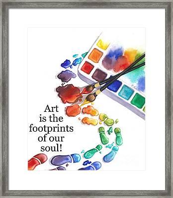 Footprints Of Our Soul Framed Print
