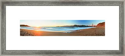 Footprints On The Beach, Golden Gate Framed Print by Panoramic Images
