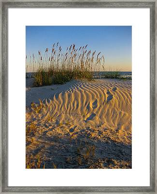 Framed Print featuring the photograph Footprints by Patricia Schaefer