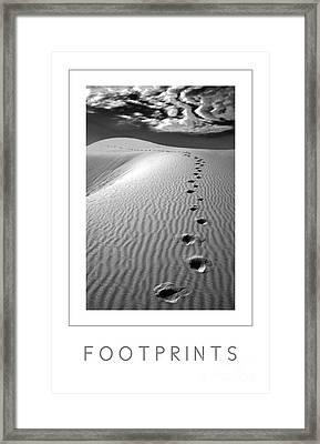 Footprints Poster Framed Print