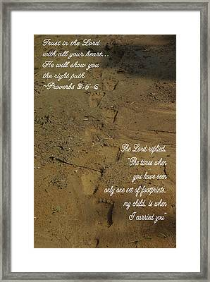 Footprints Proverbs Framed Print by Robyn Stacey