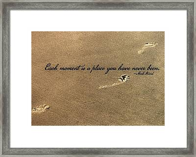 Footprints Quote Framed Print by JAMART Photography