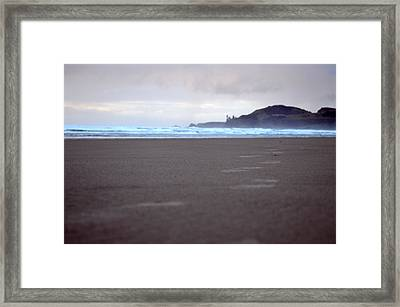 Footprints Framed Print by Sheldon Blackwell