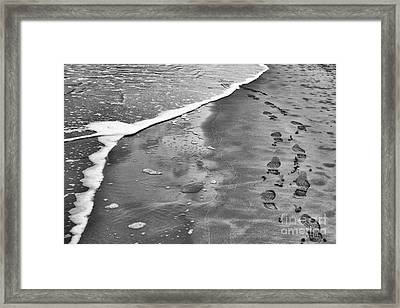 Footprints  Framed Print by Tim Gainey