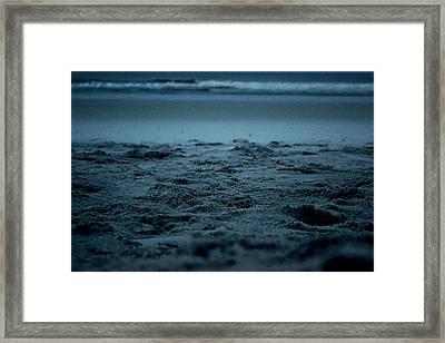 Footprints Framed Print by Victoria Clark