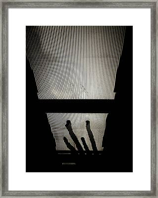 Footsteps And Faces Framed Print