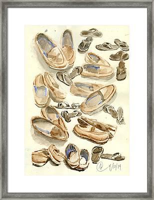Footsteps Framed Print