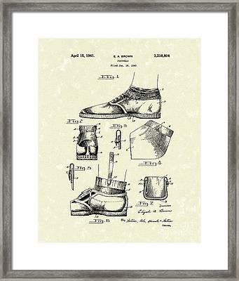 Footware 1941 Patent Art Framed Print