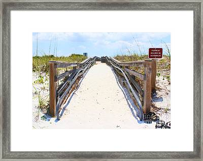 Footwear Required Framed Print