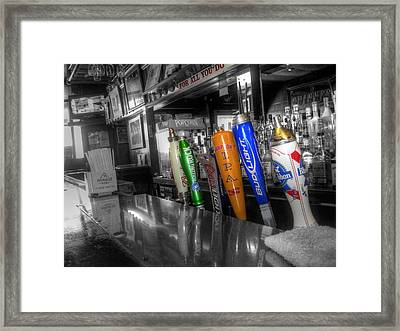 For All You Do - Beer Taps - Selective Color Framed Print