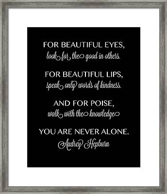 For Beautiful Eyes Framed Print