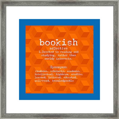 For Book Lovers Framed Print by Bonnie Bruno
