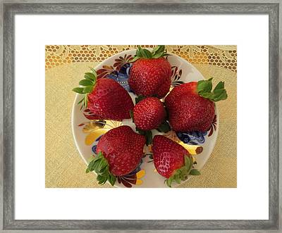 For Dessert II Framed Print by Zina Stromberg
