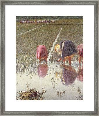 For Eighty Pennies Framed Print by Angelo Morbelli