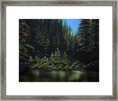 For Ever Green Framed Print by Jamil Alkhoury