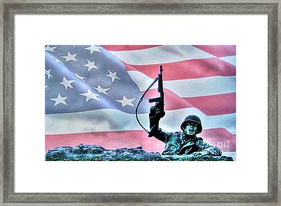 For Freedom Framed Print by Dan Stone