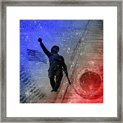 For Freedom Framed Print by Fran Riley