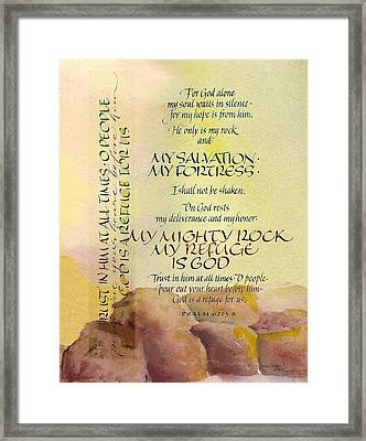For God Alone IIi Framed Print by Judy Dodds