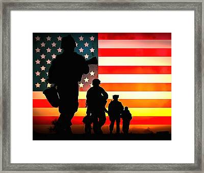 For God And Country Framed Print by Dan Sproul